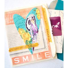 layered paper bag cards