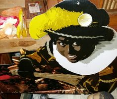 Sinterklaas etalage materiaal, museum indezevendehemel te Apeldoorn