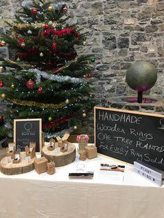 One Tree, Wooden Rings, Christmas Tree, Holiday Decor, Plants, Handmade, Home Decor, Teal Christmas Tree, Wood Rings