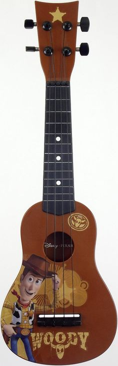 new pic of my Toy Story 3 Plastic Soprano #LardysUkuleleOfTheDay ~ https://www.pinterest.com/lardyfatboy/lardys-ukulele-of-the-day/ ~ This really is very poor as a musical instrument, pretty naff as a toy and rather delicate as a collectable - well done Disney/Pixar
