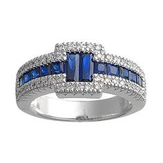 Pretty if ya are a cop wife.. Diamond Sapphire Ring