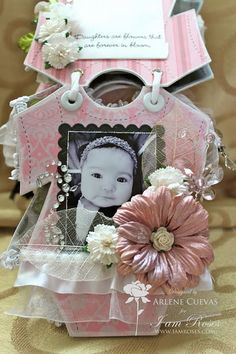 ❤ I have another fun mini album to share with you today. This one is a baby onesie mini album I created for my frie. Mini Scrapbook Albums, Baby Scrapbook, Scrapbook Cards, Scrapbooking, Scrapbook Photos, Shabby, Mini Albums, Baby Mini Album, Mini Album Tutorial