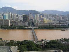 Lanzhou, China..with it's chocolate river :-)