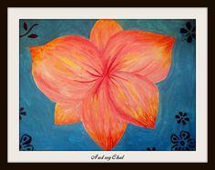 Creations Audrey Chal: fleur aquarelle et acrylique