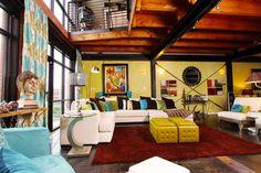 Dallas Loft - eclectic - family room - dallas - by Brandi Renee Designs, LLC