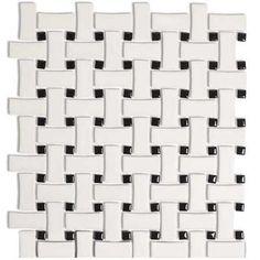 graphic look ceramic floor tile Basket Weave Tile, Basket Weaving, Bathroom Floor Tiles, Tile Floor, 2nd Floor, Pedestal Tub, Console Sink, Cast Iron Tub, Unique Flooring