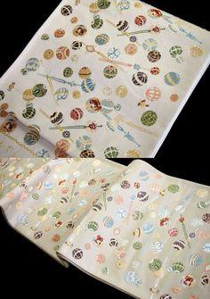 西陣織 名門 山下織物 謹製 鞠・かんざし 袋帯