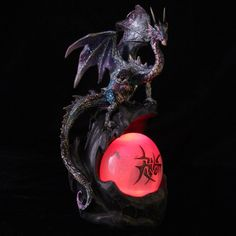 LED Watchful Mother Fantasy Dragon Collectable Figurine Our fantasy and gothic dragon range are great entry level collectors items as they are well