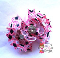 Preppy in PInk Boutique Bow by LittleAsBowtique on Etsy, $10.00