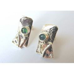 Strata silver stud earrings by Sally Ratcliffe jewellery
