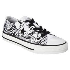$27.99online price  Kid's Converse® One Star® Retro Print - White