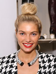 The bun is the foolproof hairstyle. And with so many variations, the bun is never boring. Here are 12 amazing bun hairstyles recently seen on the red carpet -- as well as how-tos for each look. Jessica Hart, Cute Hairstyles Updos, Wedding Hairstyles, Hairdos, Knot Bun, Top Knot, Hair Donut, Loose Buns