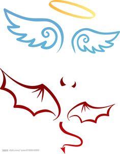 Angel Devil – Graffiti World Pencil Art Drawings, Cool Art Drawings, Art Drawings Sketches, Easy Drawings, Tattoo Drawings, Easy Graffiti Drawings, Bff Tattoos, Body Art Tattoos, Small Tattoos