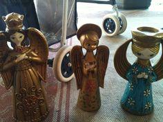 paper mache angel in Mildred's Garage Sale Spring hill, FL for $25.00. mid century paper mache angels