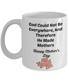 God Made Mothers Novelty Coffee Mug Mother's Day Gift Mug Cup by Habensengallery on Etsy