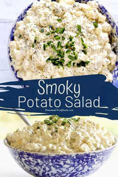 Creamy smoky potato salad is a favorite American summer and fall side dish. Everyone loves a good potato salad! Potluck Recipes, Healthy Salad Recipes, Side Dish Recipes, New Recipes, Breakfast Recipes, Potato Recipes, Kitchen Recipes, Cooking Recipes, Vegetarian Side Dishes