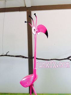Recycled Golf Club Flamingo  Free Shipping by Junkfx on Etsy, $40.00 #ImportantThingsYouNeedToKnowInGolf