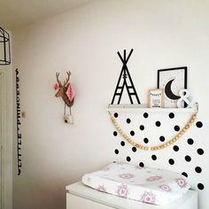 Decoración infantil barata: decorar las habitaciones infantiles por poco dinero, con washi tape, ideas y fotos.