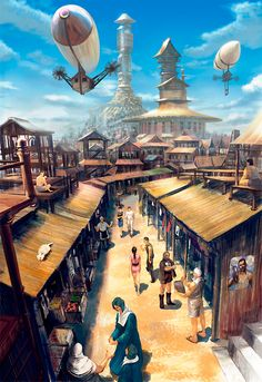About some weeks ago, I was searching around the net and apparently got to know about Steampunk. I first knew about Steampunk in Am. Fantasy City, Fantasy Castle, Fantasy Places, Fantasy World, Fantasy Art Landscapes, Fantasy Landscape, Landscape Art, Fantasy Artwork, Arte Steampunk