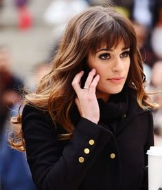 If I were to ever get full bangs I'd want them to be exactly like Lea Michele's! Maybe one day :)