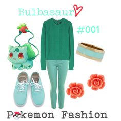 "*-""Pokemon Fashion""; Bulbasaur. #001.✿"