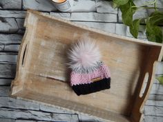 Excited to share this item from my #etsy shop: Newborn Girl Toque, Knit Baby Hat, Baby Girl Gift, Baby Hat, Newborn Gift, Baby Hat with Fur Pom Pom,Baby Shower Gift Newborn Knit Hat, Baby Hats Knitting, Knitted Hats, Pom Pom Baby, Fur Pom Pom, Head Shapes, Acrylic Wool, Baby Girl Gifts, Newborn Gifts
