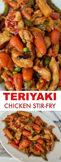 Quick, easy & perfect last minute dinner - Teriyaki Chicken Stir-Fry #StirFry #EasyDinner