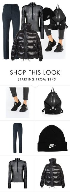 """""""Untitled #556"""" by sofiairis ❤ liked on Polyvore featuring NIKE, Rebecca Minkoff, Victoria Beckham, MM6 Maison Margiela and Sacai"""