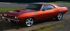 Muscle Car Rocket Booster Silver wheels on this '71 Hemi Cuda!