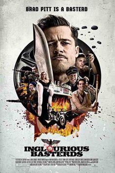 Untitled Iconic Movie Posters, Cinema Posters, Movie Poster Art, New Poster, Iconic Movies, Great Movies, Brad Pitt, Images Pop Art, Hans Landa
