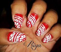 deepavali special nail arts designs in india Spring Nail Trends, Spring Nails, Nail Art Hacks, Easy Nail Art, Nailart, Coffin Nails, Acrylic Nails, Wide Nails, Flower Nail Art