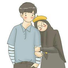 Couple Cartoon, Girl Cartoon, Cartoon Art, Cute Muslim Couples, Cute Couples, Eid Card Designs, Cute Couple Wallpaper, Islamic Cartoon, Cute Love Images