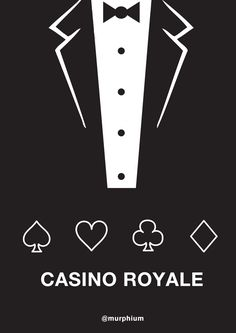 Another quick minimal movie poster. James Bond - Casino Royal