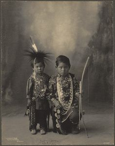 Attendees of the 1898 Indian Congress [Two Little Braves, Sac & Fox] by Boston Public Library, via Flickr