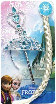 Elsa Dress Up 3 PC Wand Crown and Braid Set Frozen