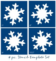 STENCIL 4 pc. Snowflake Winter Primitive Christmas shapes home decor signs