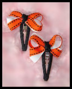 Halloween Baby Bow Clips,
