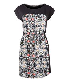Dex Kaleidoscope & Black Cap-Sleeve Dress at the Bay, on sale for $29.40 on April 15, 2015.