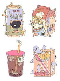 f choo - extra sugar - 2015 Arte Do Kawaii, Kawaii Art, Kawaii Anime, Pretty Art, Cute Art, Cute Food Art, Character Art, Character Design, Art Anime
