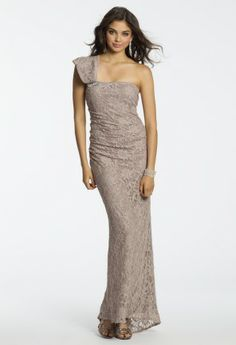 Glitter Lace One Shoulder Dress from Camille La Vie and Group USA #homecomingdresses #homecoming