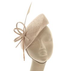 Whiteley Fischer Small Hat With Fine Feather And Twist In Dove - Whiteley Fischer from Sister UK