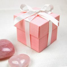 Pink Two Piece Favour Boxes - Pink Frosting Wedding Favours & Bomboniere