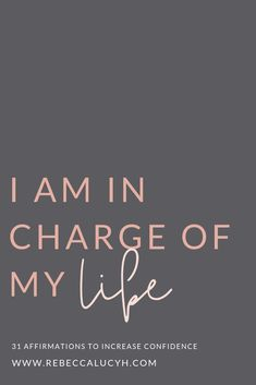 Did you know know that affirmations change increase confidence? Find out how you are in charge of your life and read my 31 affirmations for confidence. These affirmations for self esteem will reduce anxiety. 31 positive attitude affirmations and empowerin Affirmations For Women, Affirmations Positives, Daily Positive Affirmations, Positive Quotes, Affirmations Confidence, Positive Motivation, Gratitude Quotes, Happiness Quotes, Affirmation Quotes