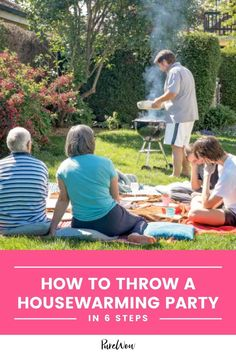 Finally, we can say goodbye to painfully awkward virtual parties (and that's worth celebrating). Ditch the quarantinis and get back to throwing parties that are actually fun. Here are six steps to throwing the ultimate housewarming party. #housewarming #housewarmingparty #party Backyard Birthday Parties, Backyard Cookout, Diy Party, Party Favors, Party Ideas, 4th Of July Party, Fourth Of July, Best Dinner Party Recipes, Outdoor Projector