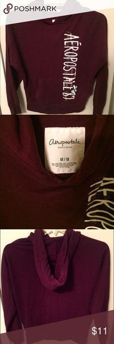 Aeropostale Hoodie Burgundy light-weight hoodie. Front pockets. Aeropostale Tops Sweatshirts & Hoodies