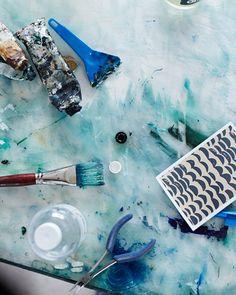 The Melbourne studio of artist Emily Ferretti. Photo - Sean Fennesy for thedesignfiles.net
