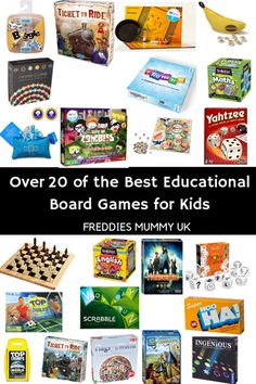Over 20 of the BEST Educational Board Games for Kids in 2019 #boardgames #boardgameskids #education #gameschooling