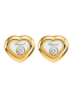 Chopard 18k Happy Diamond Stud Earrings - Chopard 18k Yellow Gold Happy Diamond Stud Earrings