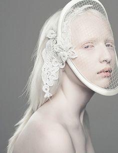 Ekaterina Grigorieva #white #fashion #editorial #portrait