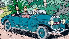 Lincoln phaeton (Cigars of the Pharaoh) Lincoln, Willys Mb, Car Illustration, Illustrations, Porsche 356, Jaguar, Herge Tintin, Comic Art, Comic Books